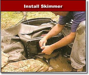 How to build a pond for Koi pond skimmer installation