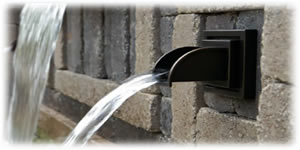Formal Spillway Wall Spout