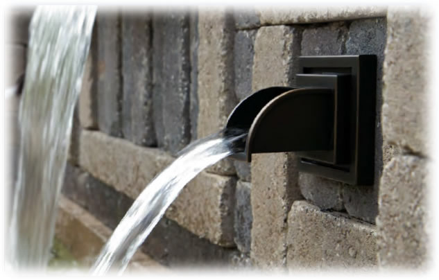 Wall Spouts Waterfall Spillways Formal Water Fountain