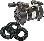 EasyPro 3/4 HP Rocking Piston Pond Aerator with 300 ft of quick sink tubing