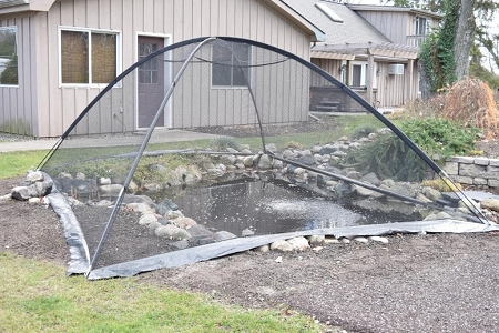Easypro deluxe pond cover tent 10 39 x 14 39 pct1014 for Decorative fish pond covers