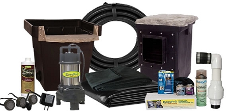 Easypro small backyard complete pond kits for Small pond pump filter kit