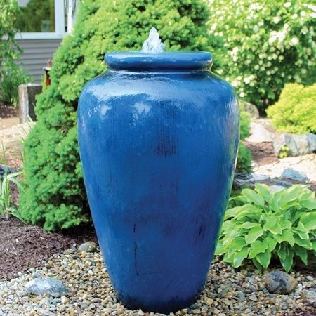 Easypro Tranquil Decor Fountain Large Smooth Vase Kit Includes Pump And Basin