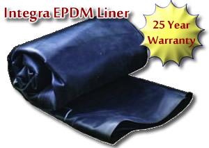 Epdm pond liner 30 mil fish safe 25 year warranty for Pond liner for sale