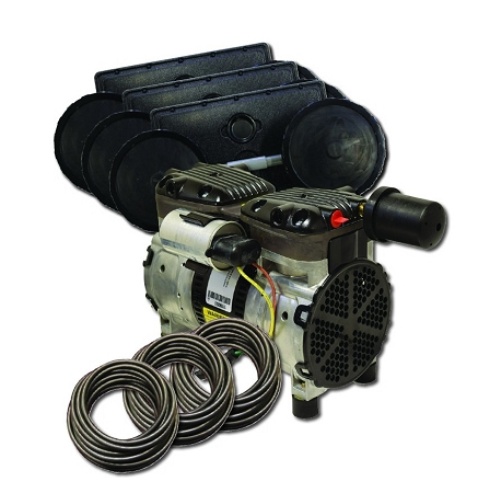 EasyPro PA66W Rocking Piston Pond Aeration System 1/2 HP Kit with Weighted Tubing