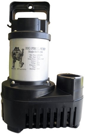 Big frog waterfall pump 3000 gph eco series bfed3000 for Large pond pumps