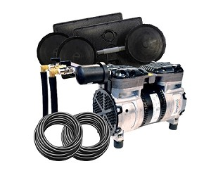 EasyPro PA65W Rocking Piston Pond Aeration System 1/2 HP Kit with Weighted Tubing