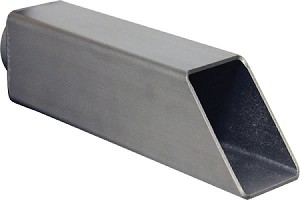 "EasyPro Vianti Falls Stainless Steel 2.5"" Square Wall Accent Scupper SWS2S"