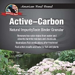 American Pond Active-Carbon Natural Impurity/Toxin Binder Granular 8Lb Pail
