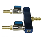 Two-way air splitter 3/8