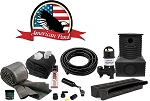 American Pond Large Pond Free Pro Series Waterfall Kit with Powerful Pump