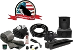 American Pond Large Pond Free Pro Series Waterfall Kit Energy Saving