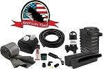 American Pond Medium Pond Free Pro Series Waterfall Kit w/ Powerful Pump