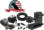 American Pond Medium Pond Free Pro Series Waterfall Kit Energy Saving