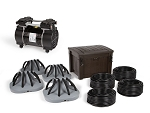 Deep Water Pond Aeration System with 4 Diffusers and Weighted Tubing