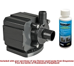 Pondmaster 3 Magnetic Drive Pond Fountain Pump 350 GPH - Includes FREE 4oz bottle of Danner PumpGuard Cleaner
