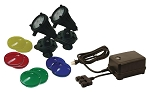EasyPro Two 6 Watt Plastic LED Submersible Pond Light Kit with Transformer LED6WPK