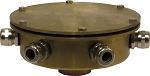 Bronze Eight Outlet Underwater Junction Box for Fountain Lights with 1