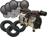 EasyPro PA66 Rocking Piston Pond Aeration System 1/2 HP Kit with Poly Tubing