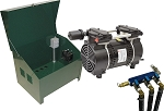 EasyPro 3/4HP Rocking Piston Pond Aerator with Deluxe Locking Cabinet PA83ADLD