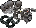 EasyPro PA83W Rocking Piston Pond Aeration System 3/4 HP Kit with weighted Tubing