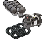 EasyPro PA86W Rocking Piston Pond Aeration System 3/4 HP Kit with weighted Tubing