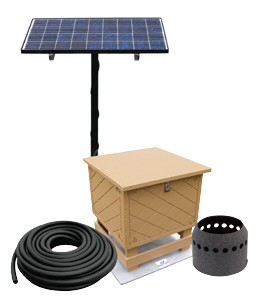 Solar Pond Aeration Kits Aerates up to 1 Acre Pond with Battery Backup