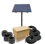 Solar Pond Aeration Kits Aerates up to 4 Acre Pond with Battery Backup