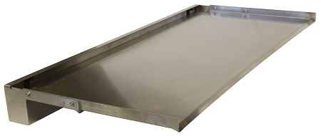 Waterfall Spillway SSS Lip Stainless Steel - Stainless steel table with lip