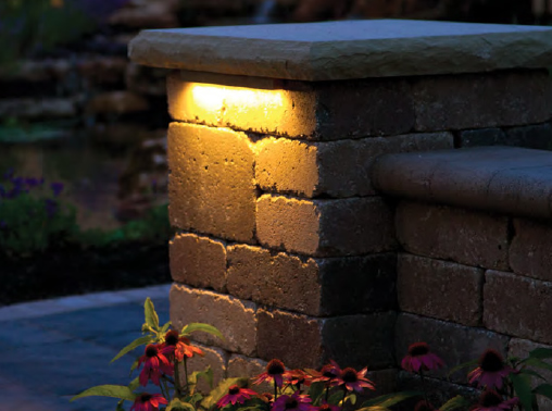 Block Wall Landscape Lighting Hardscape Lights