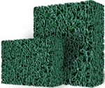 Matala Filtration Media Mat Half Sheet Green Material Coarse Semi-Open Weave