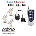 EasyPro Three Cabrio Color Changing LED Pond Lights Complete Kit