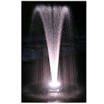 ProEco Floating Pond Fountain with White LED Lights