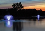 Scott Display Fountain Lighting Night Glo 2 Light Color Changing LED Set