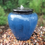EasyPro Tranquil Décor Blue Smooth Vase Bubbling Fountain
