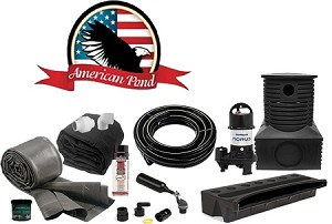 American Pond Large Pond Free Pro Series Waterfall Kit with Stream and Powerful Pump