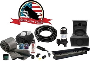 American Pond Mammoth Pond Free Pro Series Waterfall Kit with Powerful Pump