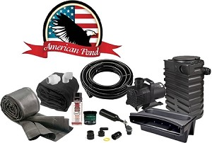 American Pond Small Pond Free Pro Series Waterfall Kit Energy Saving