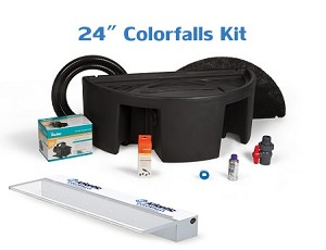 "Atlantic Complete 24"" SOL White ColorFalls Waterfall Kit"