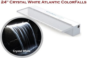 "Atlantic 24"" Crystal White ColorFalls Lighted Falls 2000 GPH CF24W"
