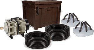 Atlantic Shallow Water Pond Aeration System with 2 Diffusers and Weighted Tubing