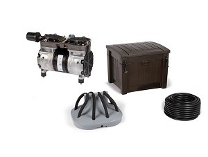 Deep Water Pond Aeration System with 1 Diffuser and Weighted Tubing