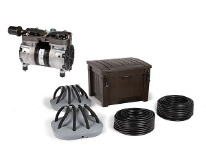 Deep Water Pond Aeration System with 2 Diffusers and Weighted Tubing