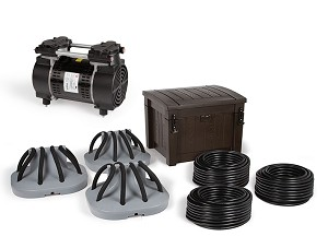 Deep Water Pond Aeration System with 3 Diffusers and Weighted Tubing