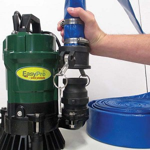 Easypro 1 HP Submersible Trash Pump ETP10N & 25' Hose Cleanout package PCH25
