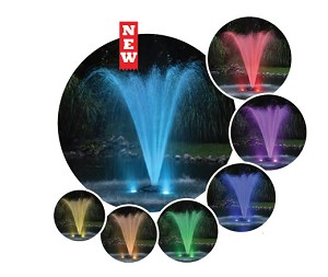 Color Changing Light Kit 4 LED Lights for Fountains up to 2 HP with 200FT Power Cord