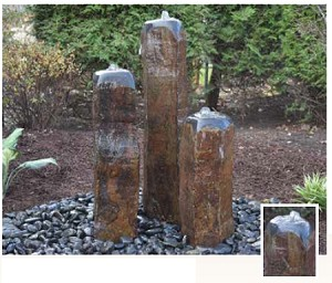 "EasyPro Single 20"" Tall Dome Top Basalt Fountain Only"