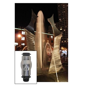 "EasyPro 1"" Stainless Steel Foam Jet Fountain Nozzle"