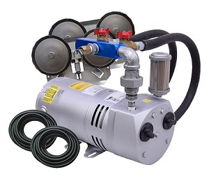 EasyPro PA50 Rotary Vane Pond Aeration System 1/4 HP Kit with Poly Tubing