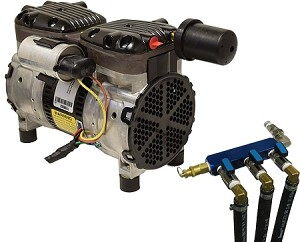 EasyPro PA66ALD Rocking Piston Pond Aerator 1/2 HP Kit with Valved Outlet Assembly